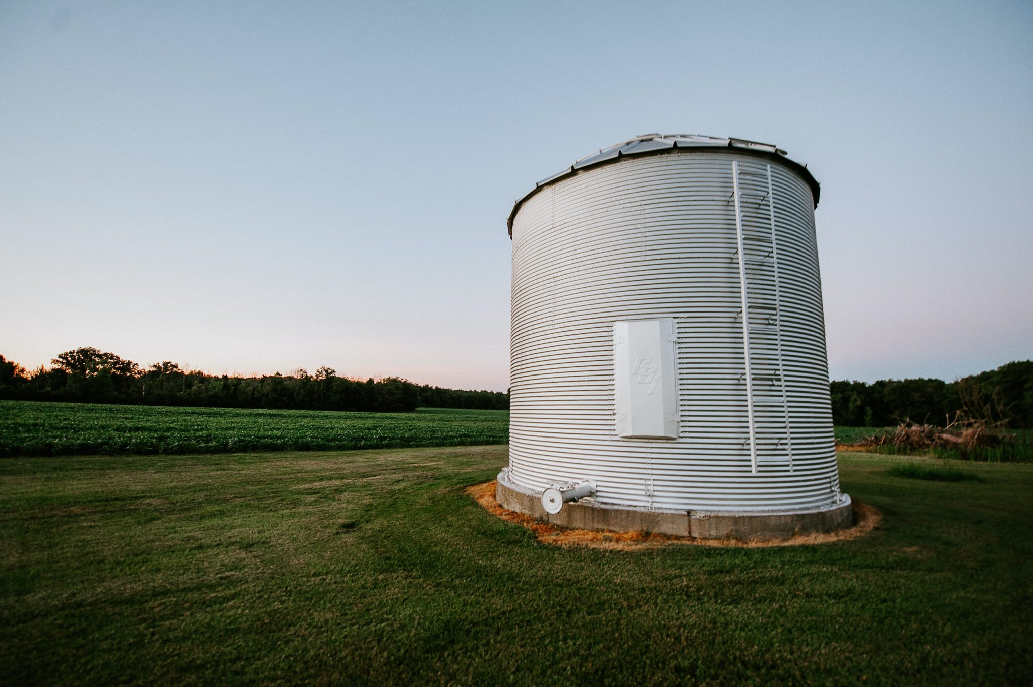 Grain Silo in middle of a field
